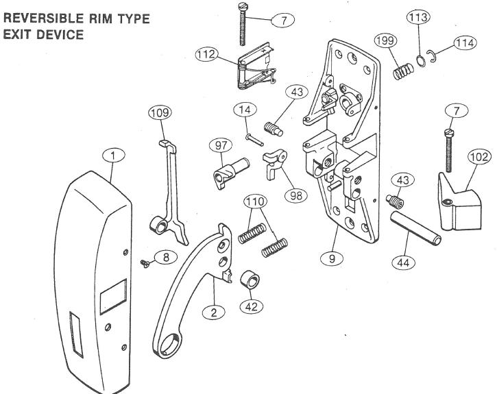 Panic Bar Lock Parts Pictures To Pin On Pinterest Pinsdaddy