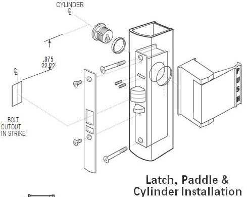 Adams Rite Aluminum Door Deadlatch 4510 313